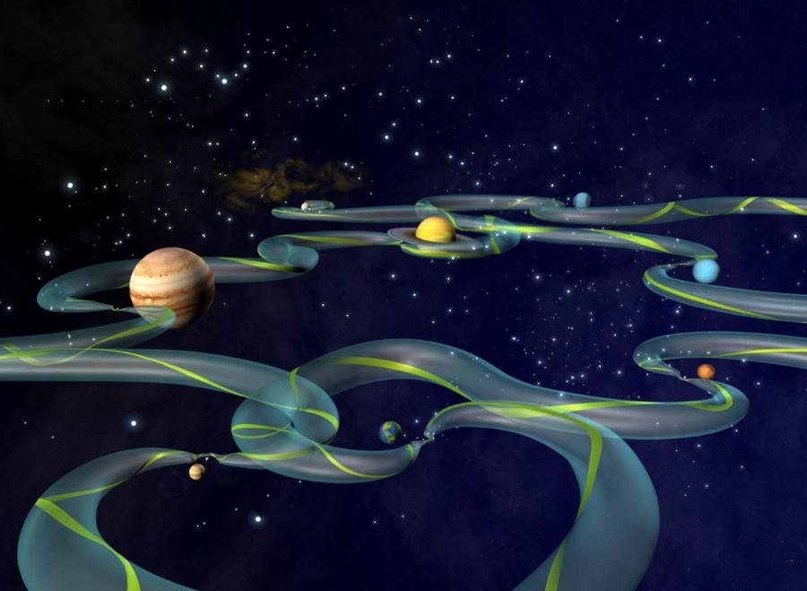 В Солнечной системе обнаружили систему скоростных магистралей — фото 1