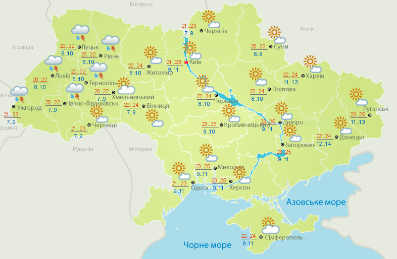 Прогноз синоптиков: в Украину пришло потепление — фото 1