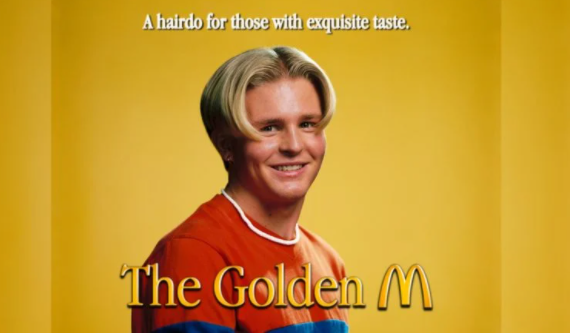 В Стокгольме открылся барбершоп, где делают прическу в форме логотипа McDonald's — фото 1