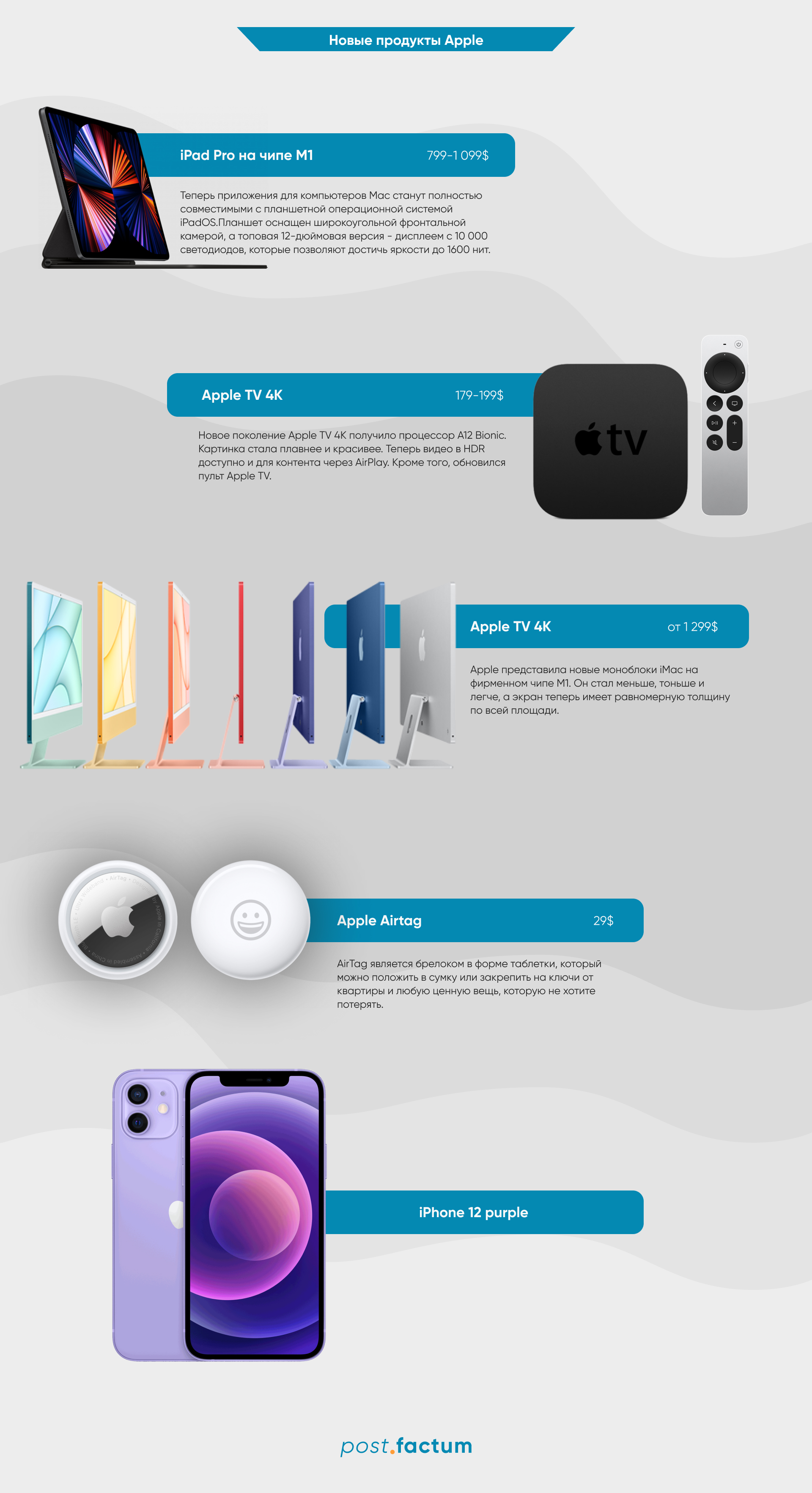 Инфографика: чем удивила Apple во время весенней презентации — фото 1